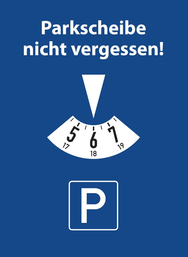 Parkscheibe Rennplatzzentrum